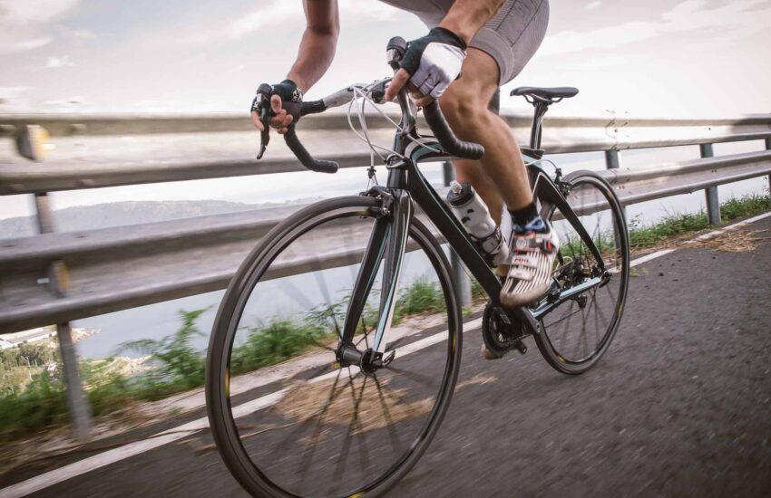 Racefiets frame fietser
